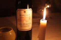 Bouteille de vin de nuit à la Cabane