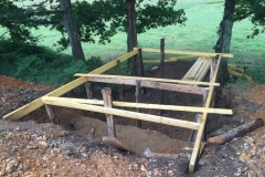Construction cabane troglodyte