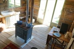 Cabane en bois dans le Perche